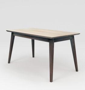 розкладний деревяний стіл з деревяним обкладом
