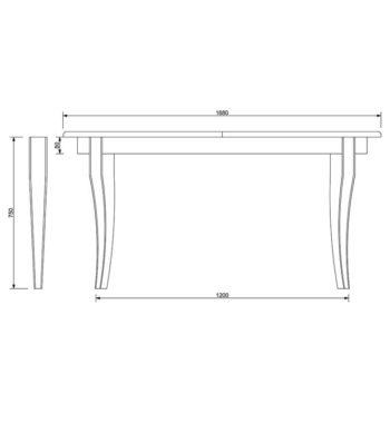 Дерев'яний стіл креслення фото «Romeo» фасад