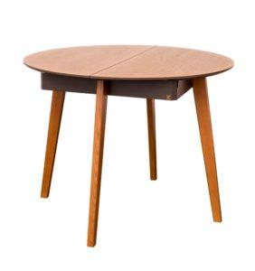 круглий деревяний стіл розкладний