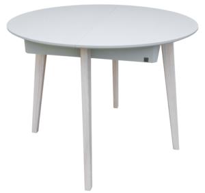 круглий деревяний стіл не розкладний